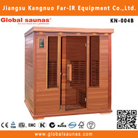 china cheapest and most beautiful infrared outdoor sauna cabin with high quality KN-004B