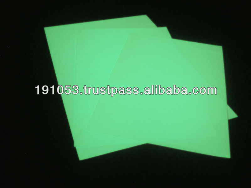 self luminous printable non-adhesive sheet