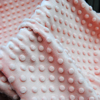 SGS Checked 100% Polyester Minky Dot Fabric Can Put in Mouth