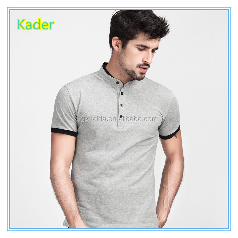 polo shirt/man polo t-shirt/stand collar men's shirt