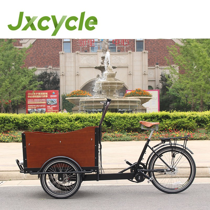 family used electric 3 wheel cargo bicycle