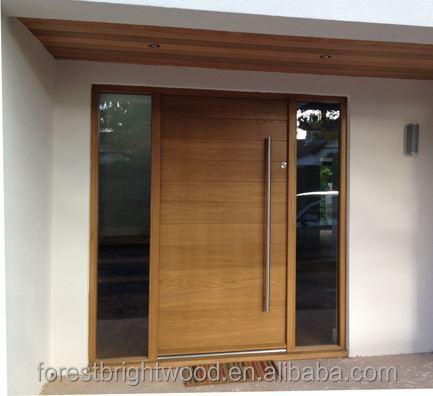 Contemporary Style Wooden Front Door Design Pivot Door