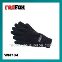 Black Cotton Knitted Nylon Working Gloves