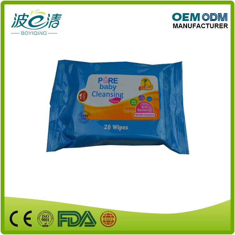 High quality OEM manufacturer baby refreshing wipes