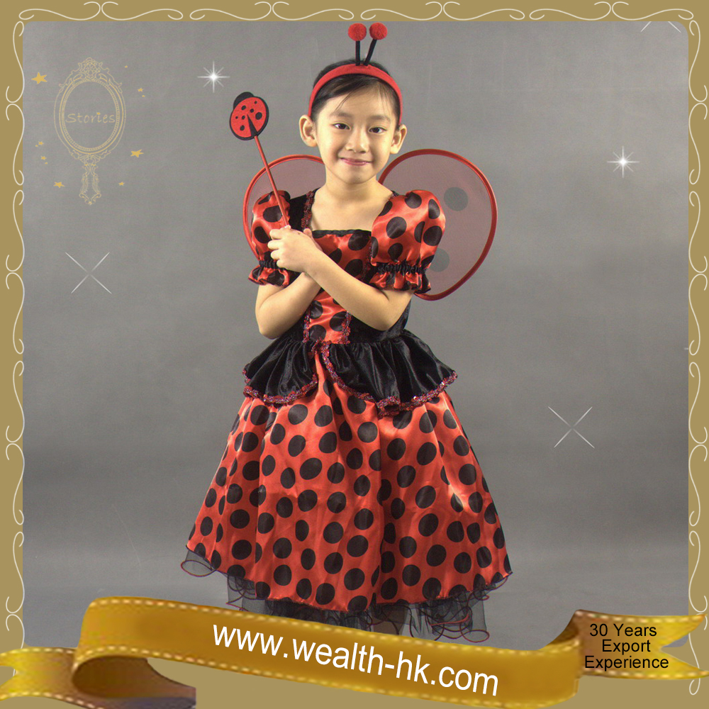 Little Girls Fancy Dress Ladybug Fairy Costume