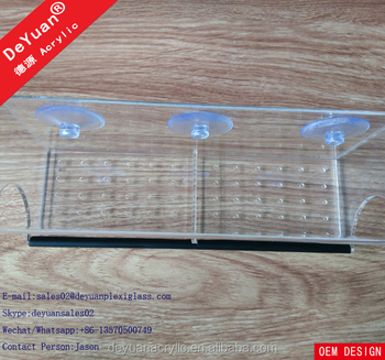 Clear Bird Feeder With Removable Tray Custom