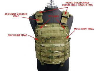 STALKER Tactical Releasable Plate Carrier