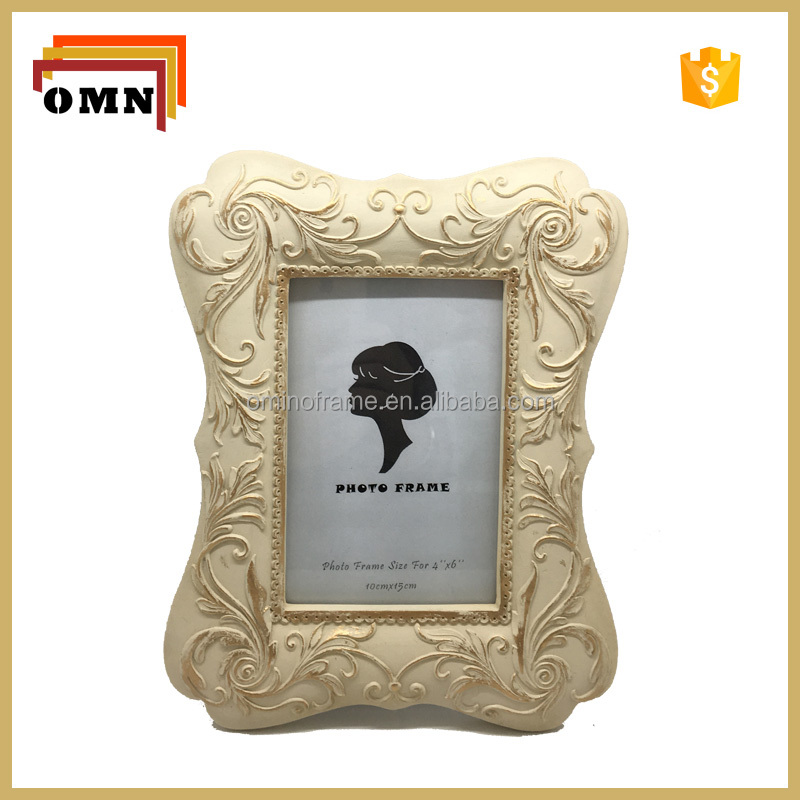 Hot Sale Screen Coloured And Gold Resin Photo Picture Frame