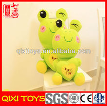Good Quality Green frog stuffed animal with heart china manufacturer