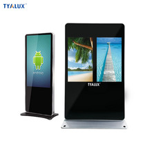 Floor stand lcd advertising display digital signage thin light 32 inch with printer 55