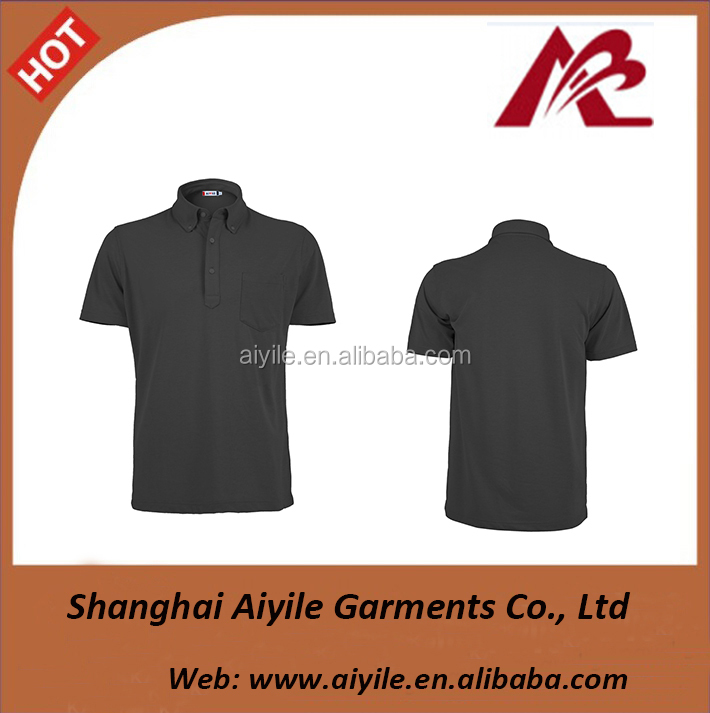 Black plain sports running Golf Polo T Shirt Logo Maker