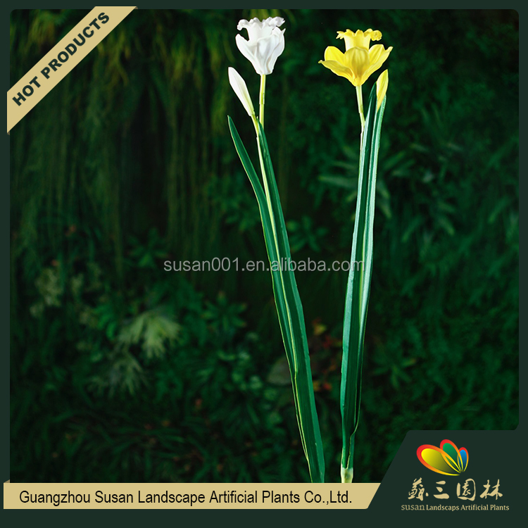 Tall PU daffodils wholesale flower artificial wedding decoration for sale