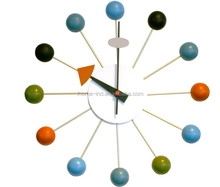 Home Decor Rolling Ball Clock Modern Design Wall Art Clock Metal Decorative Wall Clock