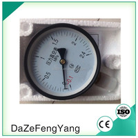 copper alloy wetted wika type compound bourdon tube pressure gauge