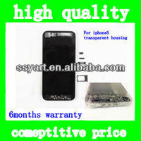 For iPhone 5 transparent black husing middle frame with back housing