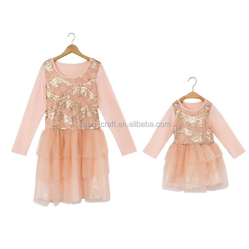 new design children girl dress mother daughter dresses women dress