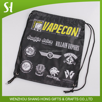 cheap gym sack drawstring bag polyester/logo printed drawstring sports bag