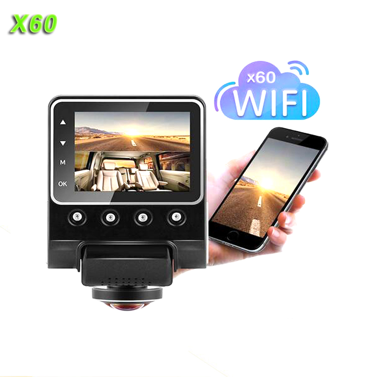 X60 Dash Cam Full HD <strong>1080P</strong> 360 Degree Black Box DVR Car security Camera with <strong>G</strong> Sensor WIFI