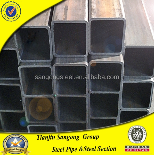 gold supplier low carbon square pvc drain pipe for structure