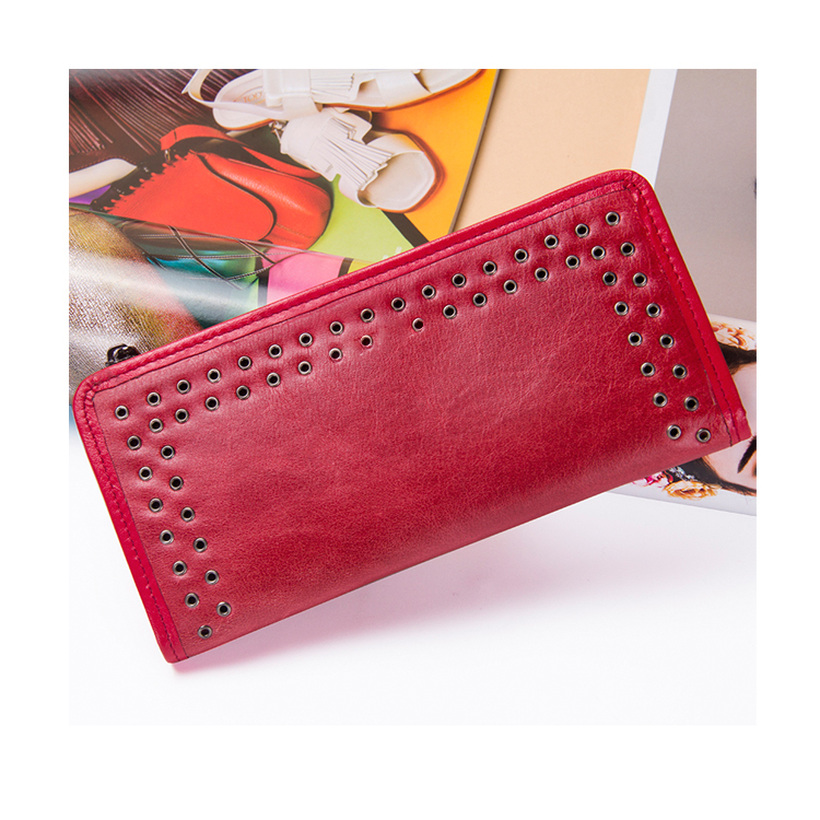 30-018 2018 Luxury Brand Genuine Leather Women Wallet Phone Pocket Purse Wallet Female Card Holder