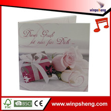 Plastic Stick Bag Pack Birthday Card With Music