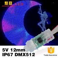 Full Color IP67 F8 DMX512 for Outdoor Use 12mm 5V RGB LED Video Light
