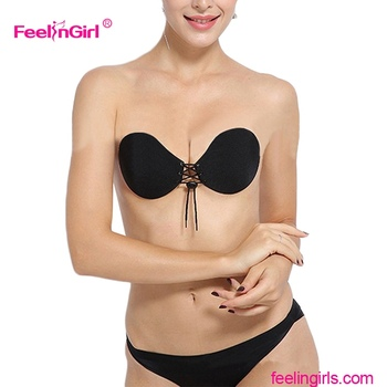FEELINGIRLS Fashion Hot Sale Push Up Adhesive Sports Bra