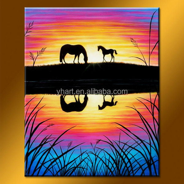 Popular Home Decoration Goods Modern Handmade Abstract Canvas Heaven Painting