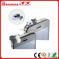 Gray and White Twins Cat Universal 3.5mm Anti Dust Earphone Jack Plug Cap