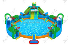 Commercial Grade Giant Inflatable Water Park for Adults Kids, Amusement Park Euipment for sale, Inflatable Water Slide with Pool