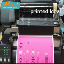 2016 Wholesale Price Custom Size Roll Blank red printed labels