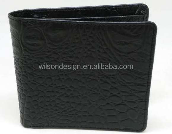 black famous brand leather card holder wallet