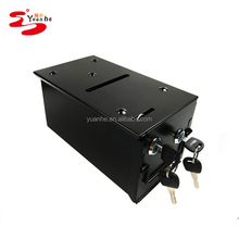 Homestyle Steel Rake Toke Drop Box with Bill Slot For Poker Table