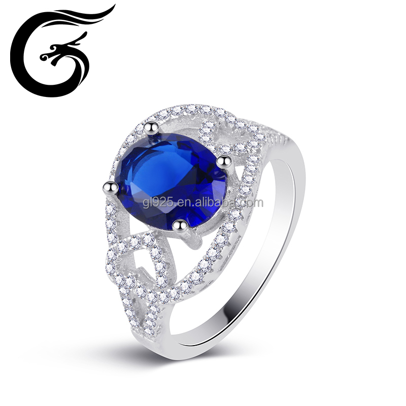 Good quality AAA CZ 925 silver china cz rings