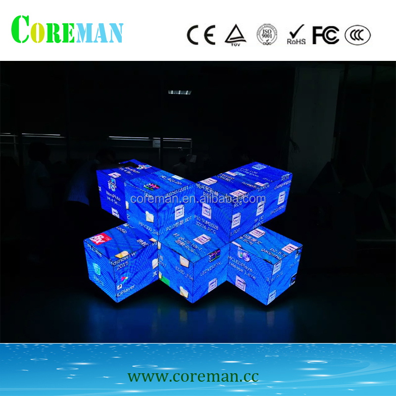 3D DJ table p10mm dip 3in1 front service led display screen