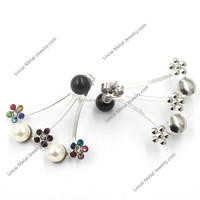 Latest crystal and beads stud earrings wholesale
