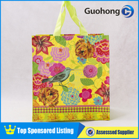 120gsm laminated pp woven shopping bag, recycle shopping bag