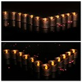 Hot sale CR2032 Battery control simulate flame Luminous LED Tealight Candles for Weeding