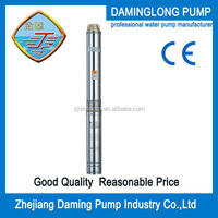 Three phase 1hp 4 inch/100QJ5 electrical submersible deep well water bore pump