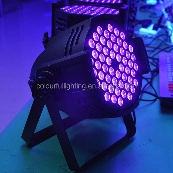 UV 54x3W LED Backlight Stage Lighting