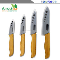 Manufacturers selling bamboo processing handle zirconia black ceramic knife cut the meat