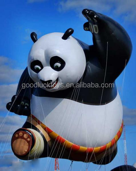 2016 customized new style helium parade balloon, inflatable panda