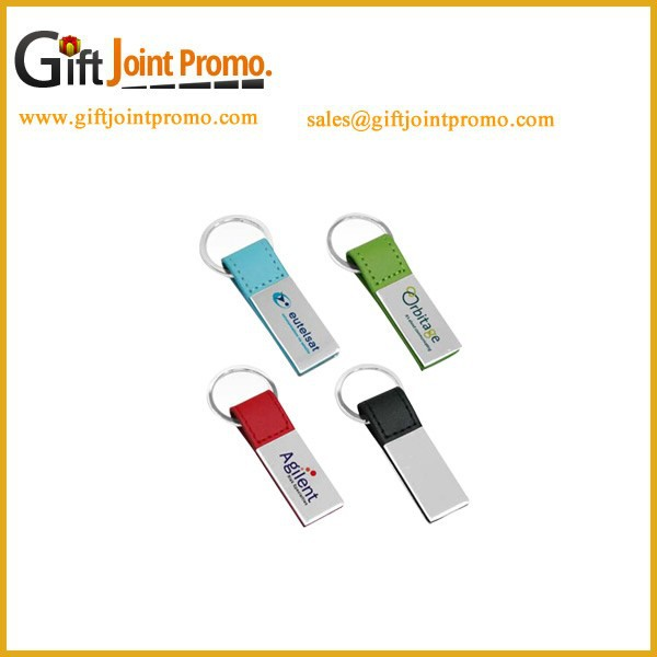 Promotional PU Leather Metal Key chain, PU Keychain