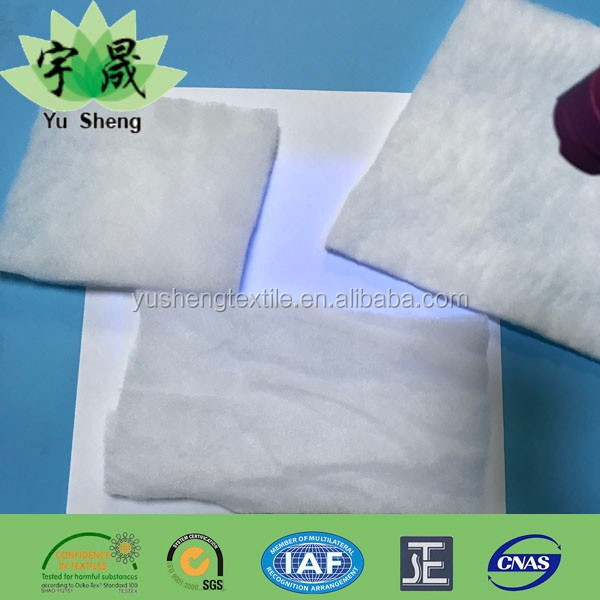 Environment friendly no fluorescent soft polyester fiber padded/wadding