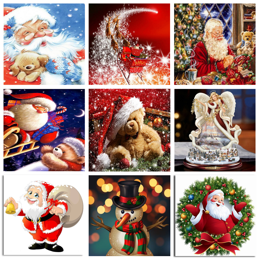 Full Diy Diamond Painting Embroidery Santa Claus For Christmas Decor