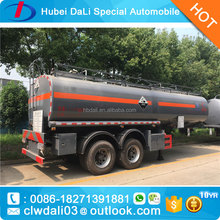 2 axle 35CBM 4 wheels chemical tank trailer