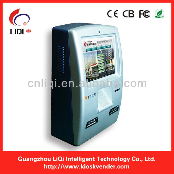 note acceptor and printer payment kiosk machine/payment terminal kiosk with front door
