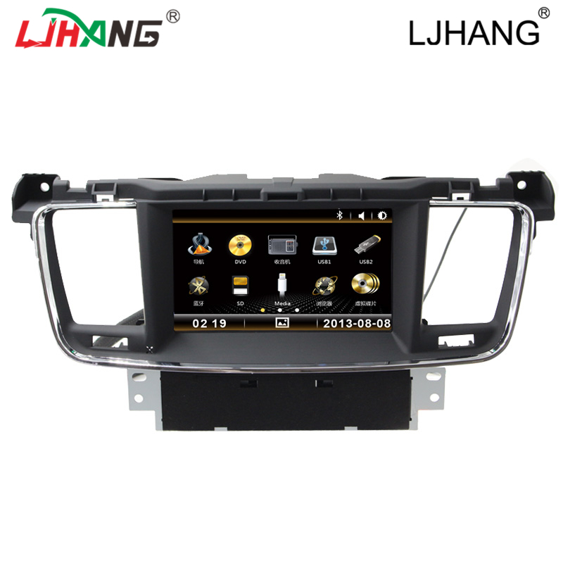 factory price high quality car GPS navigation with FM bluetooth android 5.1 car dvd player for PEUGEOT 508