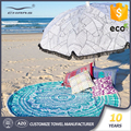 Funny adult oversized microfiber cheap wholesales large round mandala beach towel