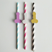 biodegradable paper drinking pure color paper packing straw with horse
